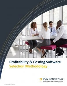 Profitability & Cost Software Selection Methodology